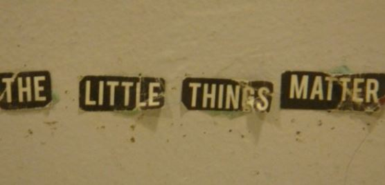 Little things matter photo